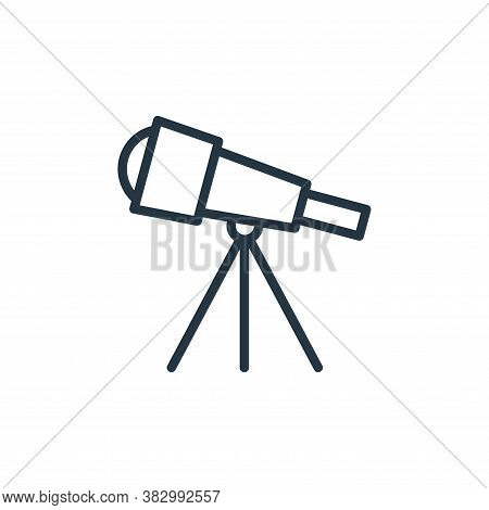 telescope icon isolated on white background from universe collection. telescope icon trendy and mode