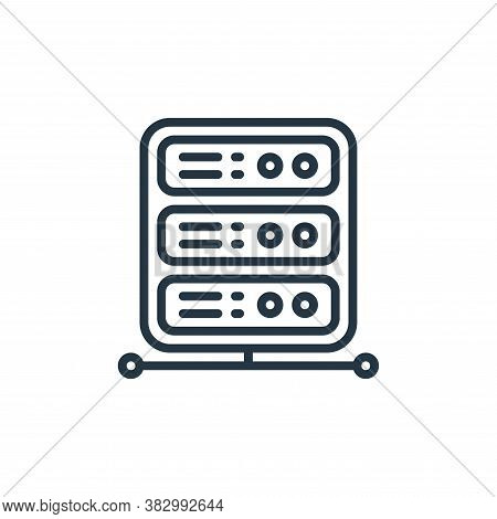 network server icon isolated on white background from cloud computing collection. network server ico