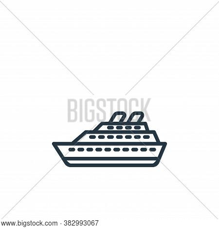 Passenger ship icon isolated on white background from vehicles collection. Passenger ship icon trend
