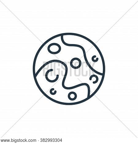 pluto icon isolated on white background from space collection. pluto icon trendy and modern pluto sy