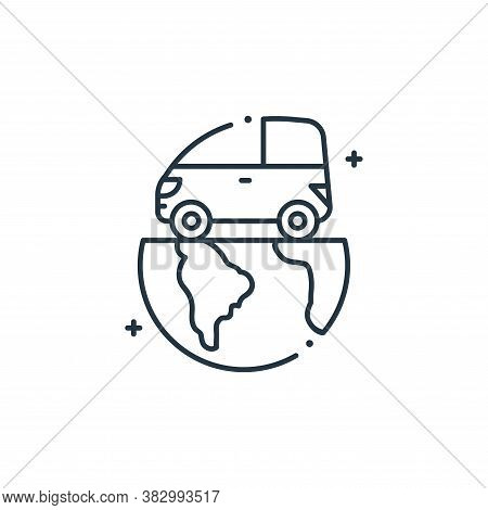 eco car icon isolated on white background from mother earth day collection. eco car icon trendy and