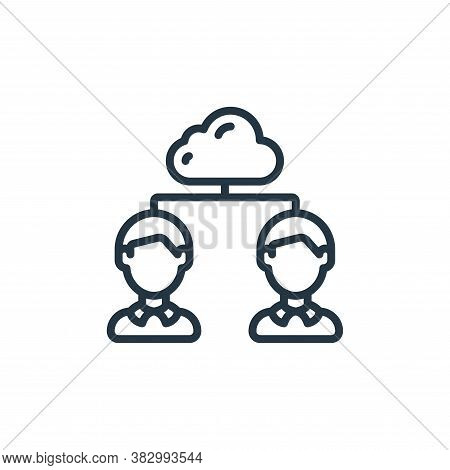 cloud sharing icon isolated on white background from cloud computing collection. cloud sharing icon