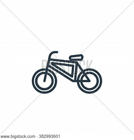 bicycle icon isolated on white background from vehicles collection. bicycle icon trendy and modern b