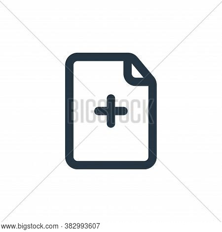 new document icon isolated on white background from file and folder collection. new document icon tr