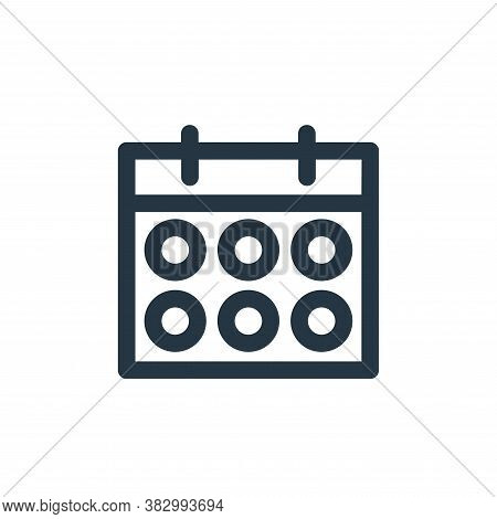 schedule icon isolated on white background from user interface collection. schedule icon trendy and