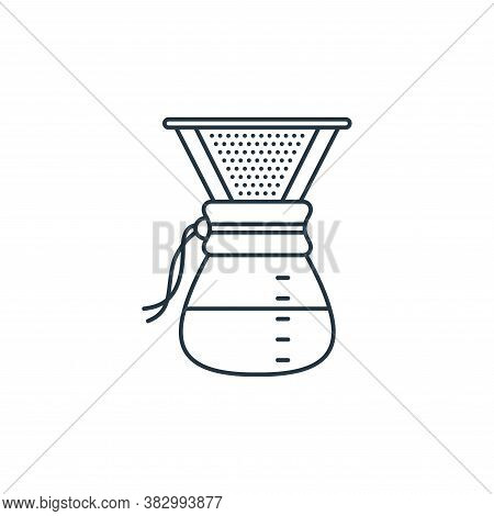 drip glass icon isolated on white background from coffee shop collection. drip glass icon trendy and