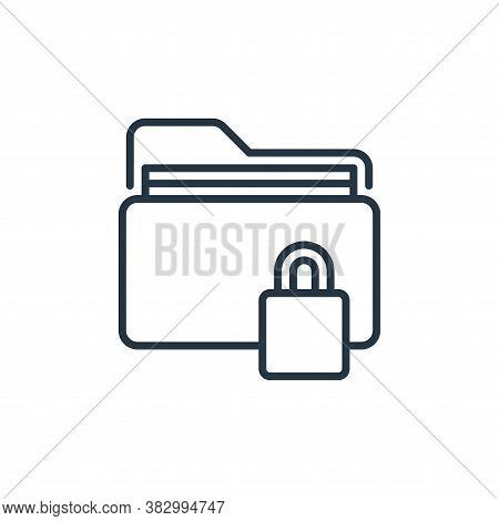 protected icon isolated on white background from cyber security collection. protected icon trendy an