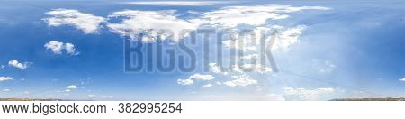Sky Part Of Panorama With Clouds, Without Ground, For Easy Use In 3d Graphics And Panorama For Compo