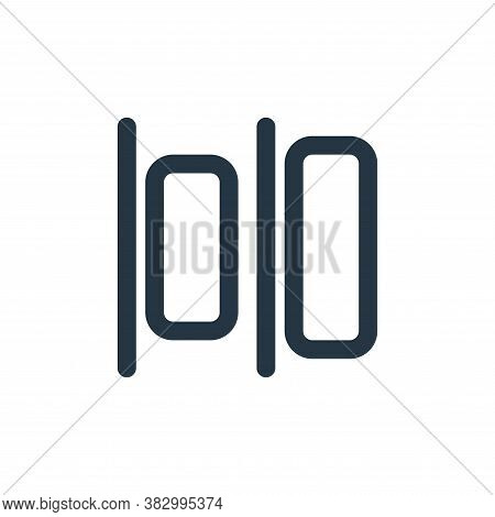 horizontal alignment icon isolated on white background from text editor collection. horizontal align