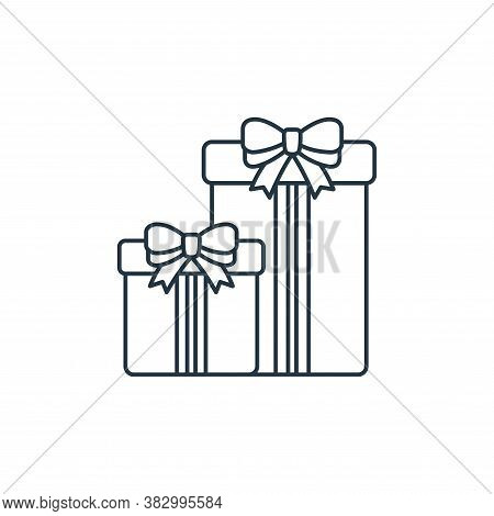 gift box icon isolated on white background from birthday party collection. gift box icon trendy and