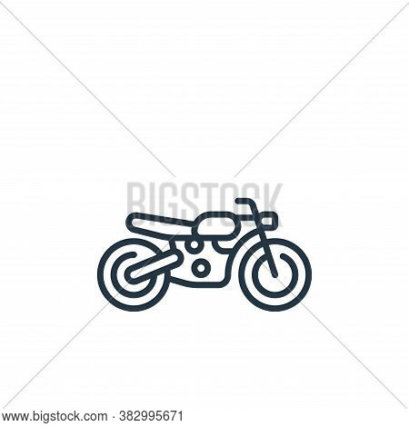 motorcycle icon isolated on white background from vehicles transportation collection. motorcycle ico