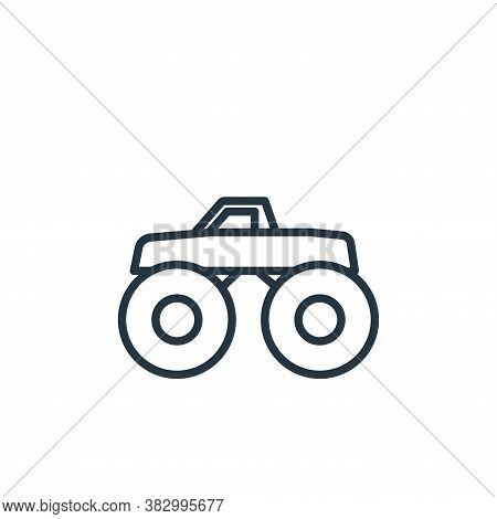 monster truck icon isolated on white background from vehicles collection. monster truck icon trendy