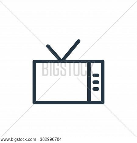 television icon isolated on white background from communication and media collection. television ico