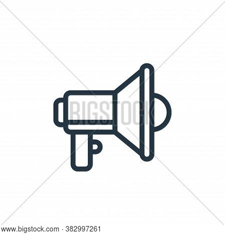megaphone icon isolated on white background from business and money collection. megaphone icon trend