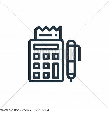 calculator icon isolated on white background from business and money collection. calculator icon tre