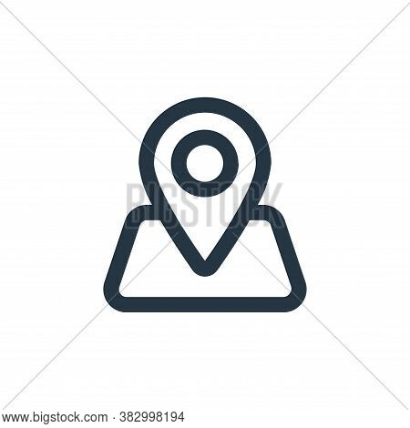 location pin icon isolated on white background from ecommerce ui collection. location pin icon trend