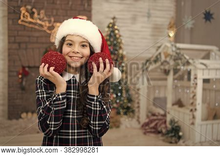 Cheerful Kid. Decorating Her Favorite Activity. Decor Shop. Pick Decorations Home. Child Decorating
