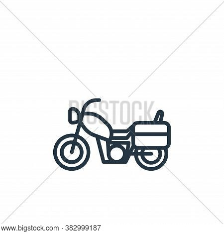 motorcycle icon isolated on white background from vehicles collection. motorcycle icon trendy and mo