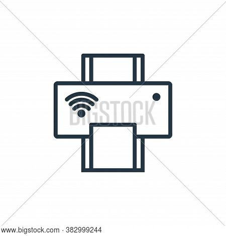 printer icon isolated on white background from internet of thing collection. printer icon trendy and
