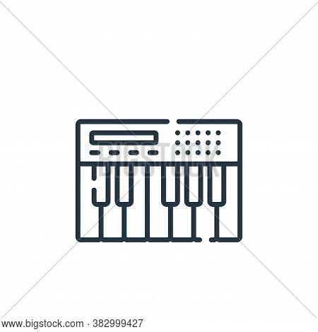 keyboard icon isolated on white background from rock and roll collection. keyboard icon trendy and m