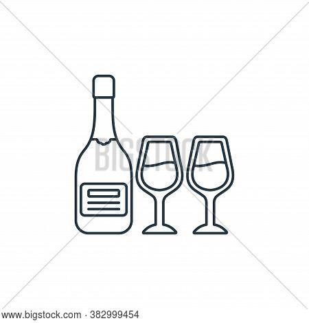 champagne icon isolated on white background from birthday party collection. champagne icon trendy an