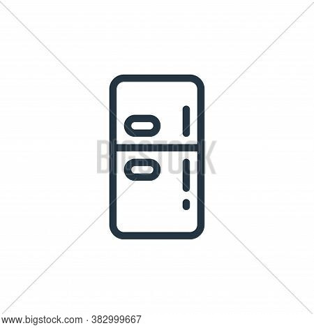 fridge icon isolated on white background from smarthome collection. fridge icon trendy and modern fr
