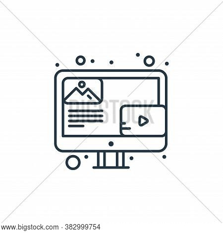 blog icon isolated on white background from digital marketing collection. blog icon trendy and moder