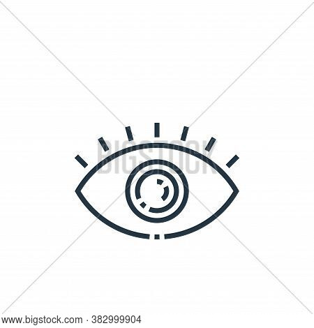 eye icon isolated on white background from photography collection. eye icon trendy and modern eye sy
