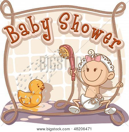 Baby Shower Cartoon Invitation