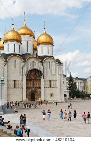 Uspensky Sobor In Moscow Kremlin