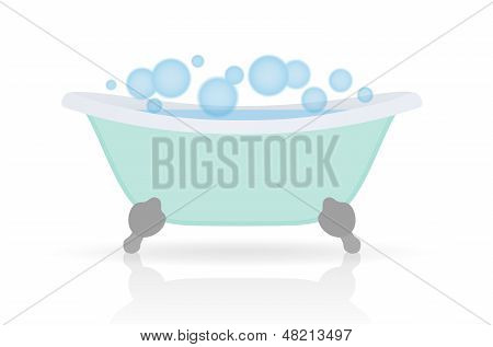 Isolated Bath with bubbles