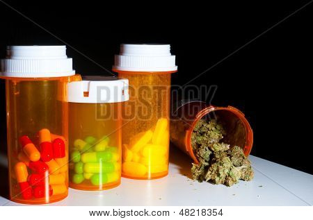 Marijuana and pills
