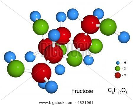 The Isolated 3D Model Of Fructose
