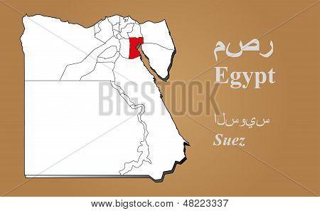 Egypt Suez Highlighted