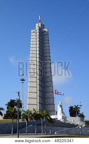 Jose Marti statue and memorial in Havana