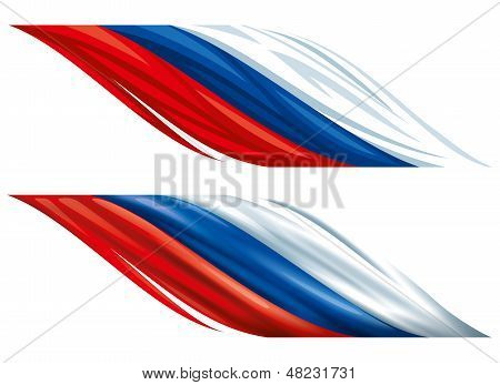 Russian decorative flags