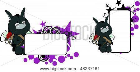 donkey cherub cartoon copyspace