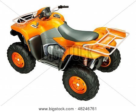 Sports quad bike isolated on a light background poster