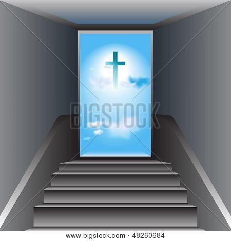 Лестница в небо. Путь к Богу. Креста Иисуса Христа