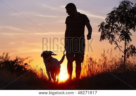 Man With Dog
