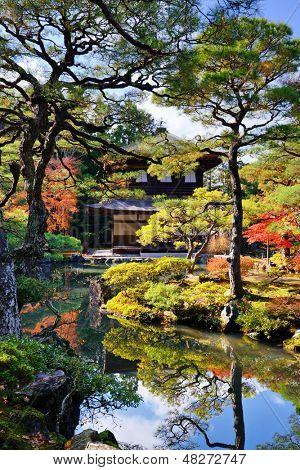 Ginkaku-ji Temple in Kyoto, Japan during the fall season. nov 19