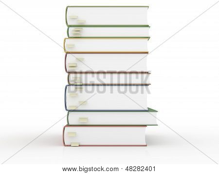 Stacks Of Books With Bookmarks