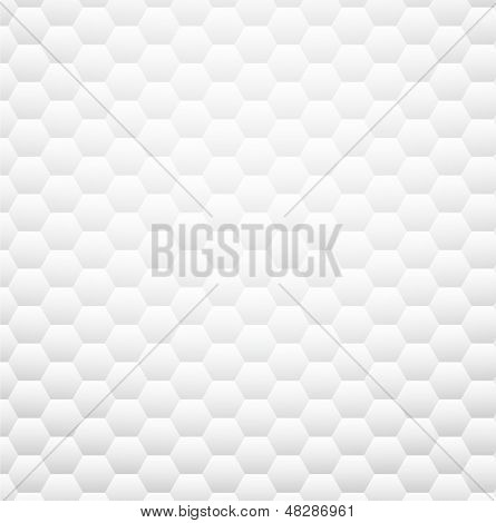 White texture pattern. Clear honeycomb design. Vector eps10.