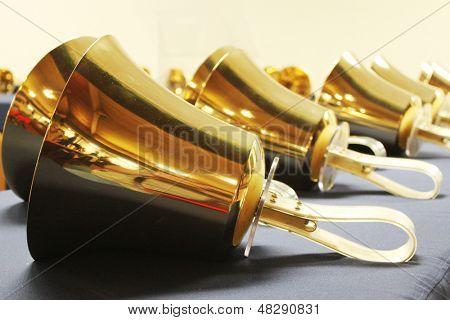 Handbells ready to play