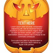 Jack O Lantern. Halloween Pumpkin with Candle Light. Background for Your Text poster
