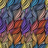 Seamless abstract curly wave pattern-model for design of gift packs, patterns fabric, wallpaper, web sites, etc. poster