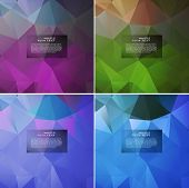 Abstract pattern of geometric shapes.Texture with flow light of effect. Geometric background.  poster