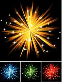 The vector illustration contains the image of abstract firework poster