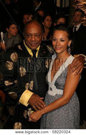Quincy Jones and Rashida Jones at the 2007 Vanity Fair Oscar Party. Mortons, West Hollywood, CA. 02-25-07