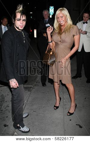 Lukas Rossi and Mary Carey out for the nite at Mr. Chow's Restaurant. Beverly Hills, CA. 03-06-07